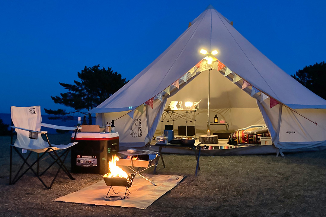 Easy and luxurious solo camping